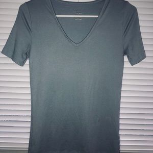 Thin Fitted V-Neck Tee